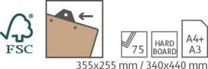 Hardboard-clipboard